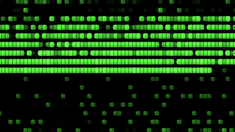 computer disk fragment process,shine green square screen Animation