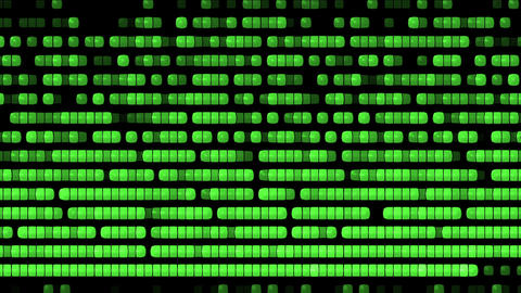 computer disk fragment process,shine green square screen Stock Video Footage