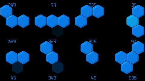 Hexagon chemical molecular & number Stock Video Footage