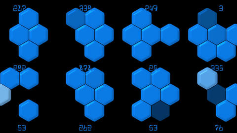 Hexagon chemical molecular & number Animation