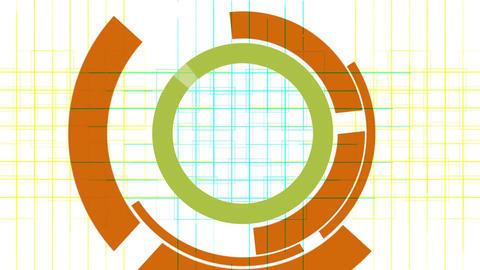 rotation computer circles interface & mesh... Stock Video Footage