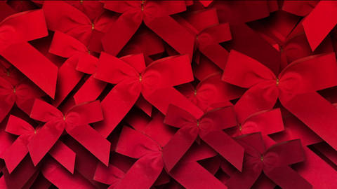 red bow-knot background,chrismas & holiday decoration Stock Video Footage