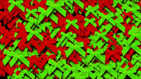 green & red bow-knot background,chrismas & holiday decoration Animation