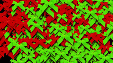 green & red bow-knot background,chrismas &... Stock Video Footage