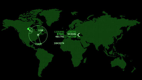global GPS & data detect schedule,earth map & military Radar GPS screen  Animation