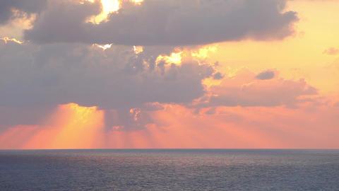 Sky, sea, clouds Stock Video Footage