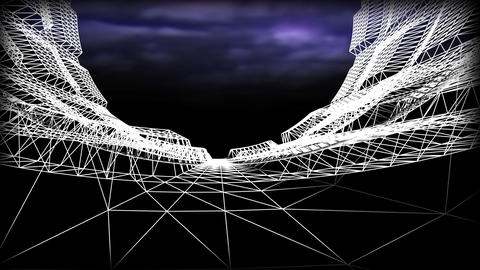 Wireframe Road 02 Stock Video Footage
