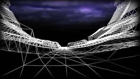 Wireframe Road 02 Animation