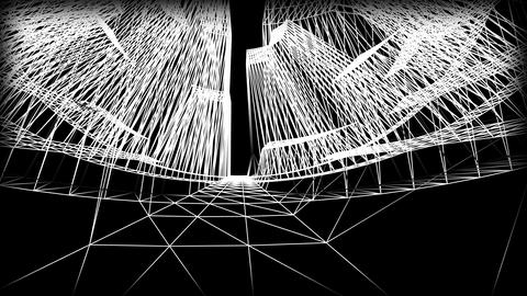 Wireframe Road 04 CG動画素材