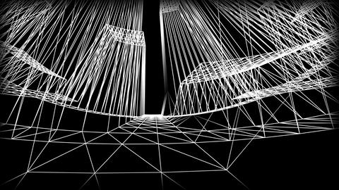 Wireframe Road 04 Stock Video Footage
