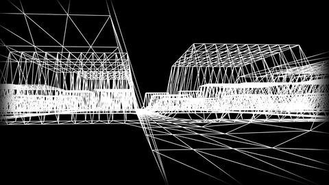 Wireframe Road 06 Stock Video Footage