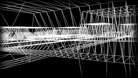 Wireframe Road 06 Animation