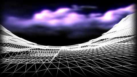 Wireframe Road 08 Stock Video Footage
