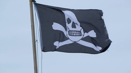 The Jolly Roger stock footage