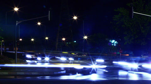Fast street traffic in the big city. Time lapse Stock Video Footage