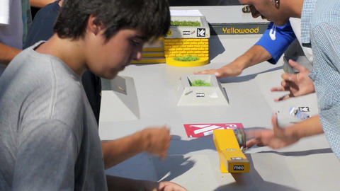 Finger board skate competition Stock Video Footage