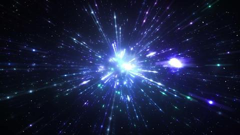 Star Field Space flash d 2b HD Stock Video Footage