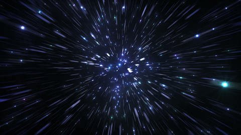 Star Field Space tunnel c 3c HD Stock Video Footage