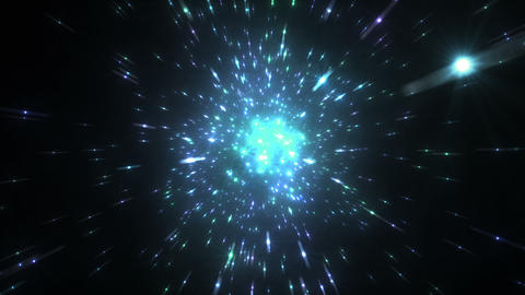 Star Field Space tunnel c 4b HD Stock Video Footage