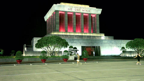 HANOI - HO CHI MINH MAUSOLEUM Stock Video Footage