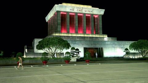 HANOI - HO CHI MINH MAUSOLEUM Stock Video Footage