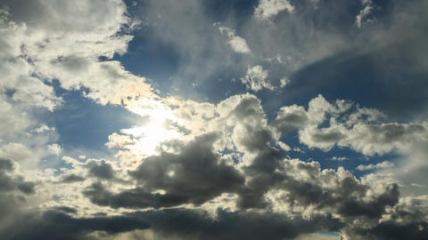 Light of the sun breaks through the clouds. Time L Footage