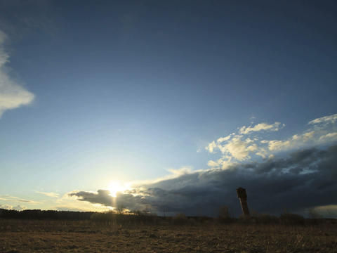 Storm clouds at sunset. Time Lapse. 4x3 Stock Video Footage