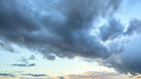 Storm clouds at sunset. Time Lapse Stock Video Footage