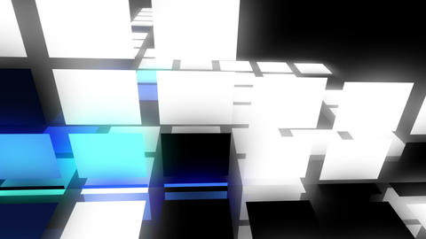 Abstract square background - flying squares animat Stock Video Footage