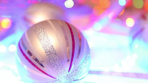 Christmas ball, traditional decoration on defocuse Footage
