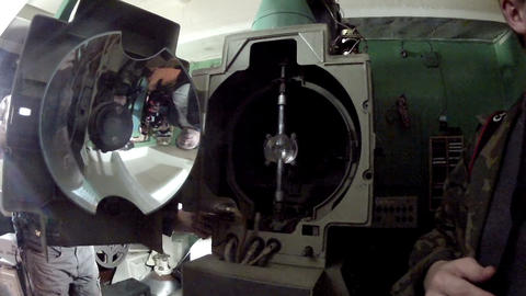 Old film projector Stock Video Footage