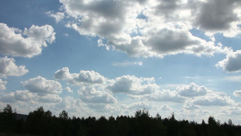 Clouds over the forest Stock Video Footage