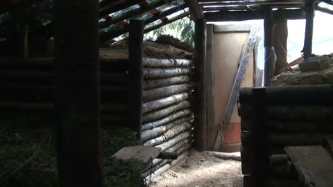 Military dugout Stock Video Footage