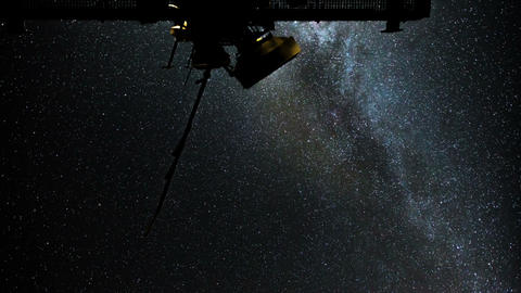 radio telescope stars milky way time lapse 11087 Stock Video Footage