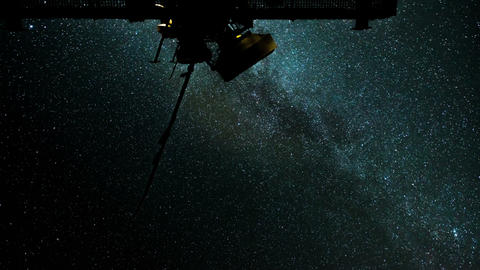 radio telescope stars milky way time lapse 11087 Footage