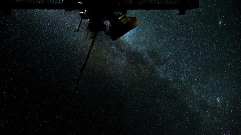 radio telescope stars milky way time lapse 11087 Stock Video Footage