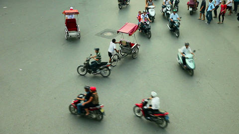 HANOI TRAFFIC - HOAN KIEM DISTRICT Stock Video Footage