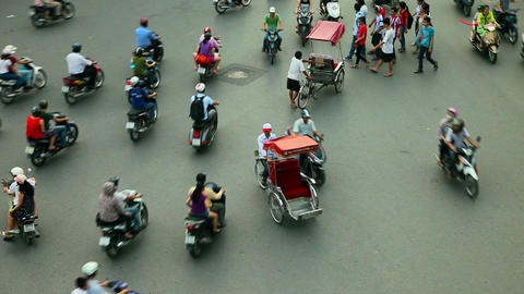HANOI TRAFFIC - HOAN KIEM DISTRICT Footage
