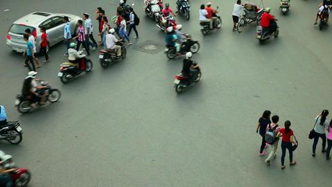 HANOI TRAFFIC - HOAN KIEM DISTRICT Stock Video Footage