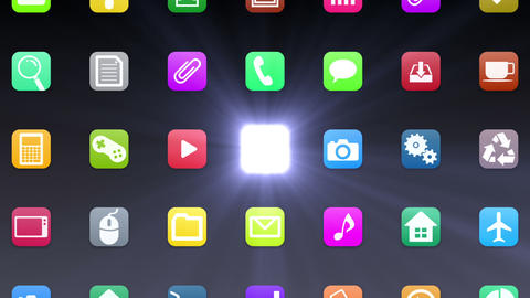 Smart Phone apps G 7 Bb 1 D 1 Wide Stock Video Footage