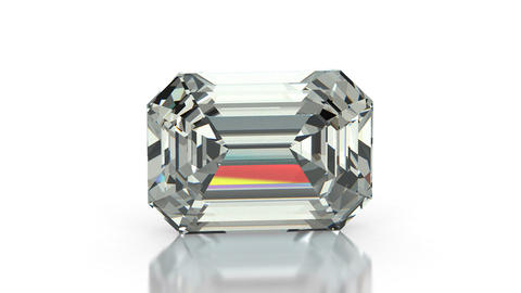 Emerald Cut Diamond Animation