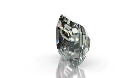 Emerald Cut Diamond Stock Video Footage