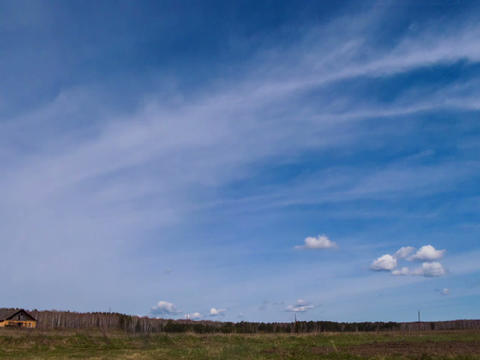 Clouds form over the field. Time Lapse Stock Video Footage