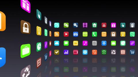 Smart Phone apps R 7 Cs 1b 1 HD Stock Video Footage