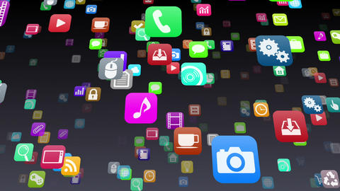 Smart Phone apps S 7 Mb 1b 1 HD Stock Video Footage
