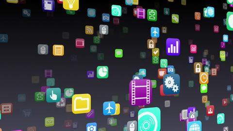 Smart Phone apps S 7 Nb 1b 1 HD Stock Video Footage