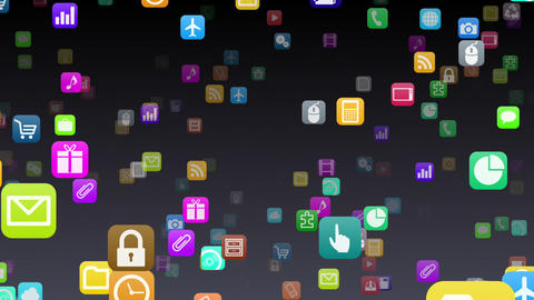 Smart Phone apps S 7 Yb 1b 1 HD Stock Video Footage