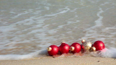 Christmas in the tropics Stock Video Footage