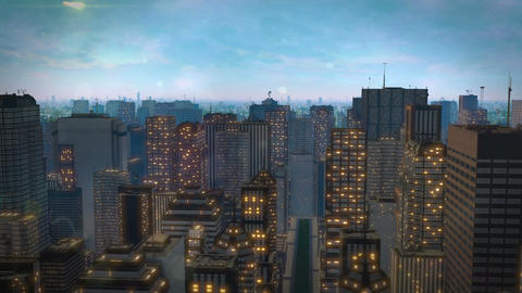 meteorite crash city hd Stock Video Footage