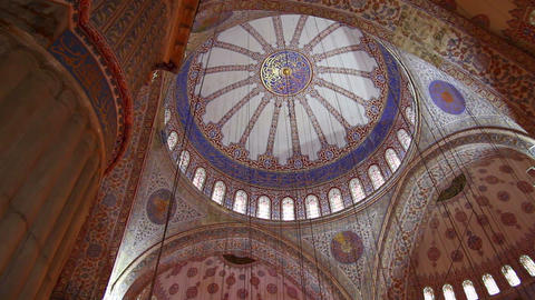 sultanahmet mosque interior in istanbul turkey Stock Video Footage